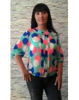Блуза Цветные круги